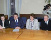 Volodimir Trikur, Bacskai József, Halina Horohovszka és Sin József