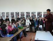 Orosz Ildikó köszönti a vetélkedők résztvevőit