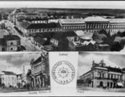 """Fenyves Andor az ugyancsak visszatért felvidéki Losoncon beregszászi képeslapot adott ki a """"Visszatért"""" bélyegzővel illusztrálva."""