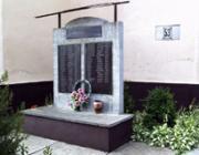 Az 1944-es elhurcoltak emlékműve a református templom udvarán