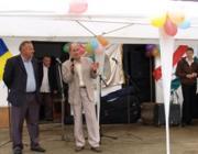 Sápi Sándor polgármester és Milován Sándor, a KMKSZ alelnöke, megyei képviselő megnyitják a rendezvényt