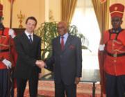 Andrij Zajac Abdoulaye Wade szenegáli elnökkel