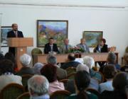 Brenzovics László, a Kárpátaljai Megyei Tanács és a KMKSZ elnökhelyettese mond köszöntőt