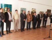 A kiállítás megnyitójának vendégei