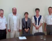 Gulácsy Géza, Brenzovics László, Ljubka Katalin, Répás Zsuzsanna és Kovács Miklós a munkácsi megbeszélésen