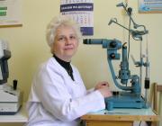 Dr. Ilkova Anna, a Beregszászi Járási Kórház szemész főorvosa