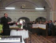 Szilágyi Károly guti lelkipásztor igét hirdet