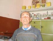 Tót Kálmán, a falu legidősebb magyar férfilakosa
