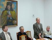 Palotás József és a tanári kar: Illár Lénárd, Milován Sándor és Bakos Sándor