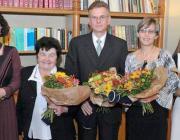 A díjazottak (balról jobbra): Sipos Judit, Halusz Magdolna, Horváth József, dr. Kiss Szilvia, Nagy Mária