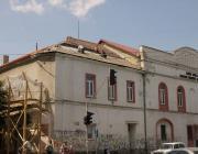 Felújítás alatt a beregszászi magyar színház épülete