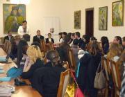 Dr. Orosz Ildikó köszönti a konferencia résztvevőit