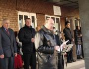 Faragó László beszédet mond az átadóünnepségen