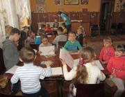 A gyerekek egyik foglalkozáson