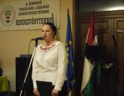 Balogh Lívia, a KMKSZ Ungvári Középszintű Szervezetének elnöke