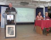 Molnár János bereg-ugocsai  római katolikus esperes köszönti  a konferencia résztvevőit