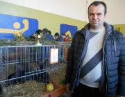 Gábor István díjnyertes nyulával
